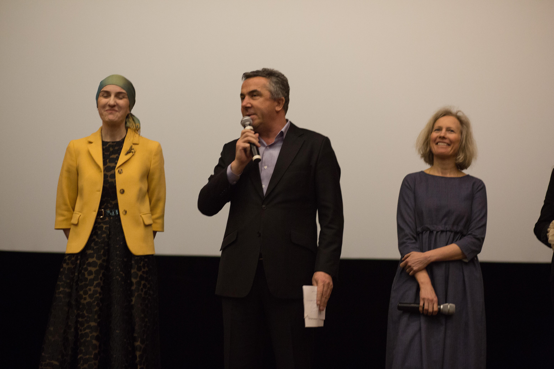 Анна Чернакова на презентации фильма в Махачкале